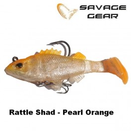 Savage Gear Rattle Shad gumihal 9.5 cm 20gr - Pearl Orange